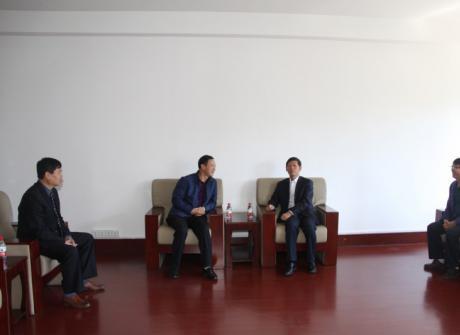 省教育厅国际合作处领导莅临我院检查指导工作
