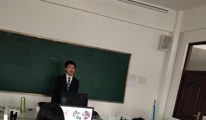 日本新泻综合学园来我院宣讲